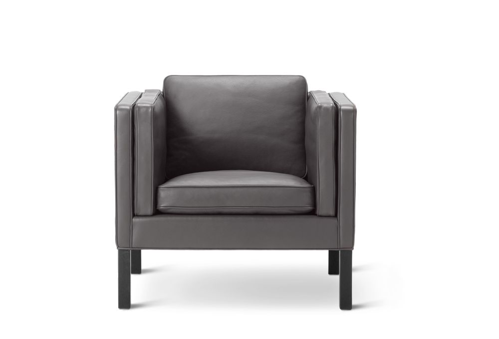 Oak black lacquered, Remix 2 113,Fredericia,Lounge Chairs,chair,club chair,furniture,leather