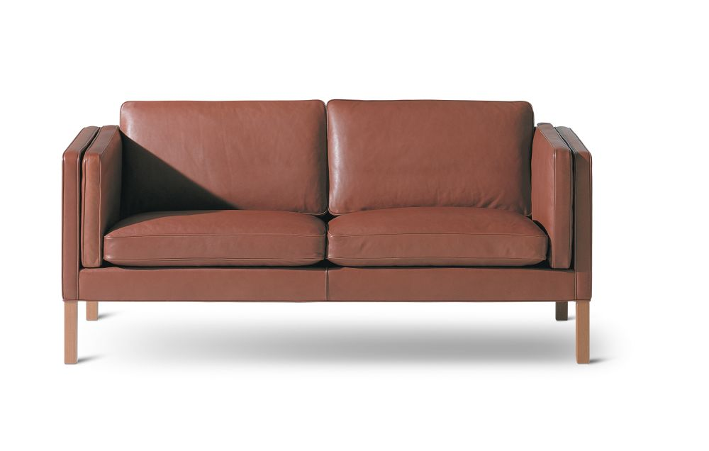 Oak black lacquered, Remix 2 113,Fredericia,Sofas,armrest,chair,comfort,couch,furniture,leather,loveseat,orange,outdoor sofa,sofa bed,studio couch,tan