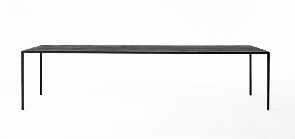 90 x 240cm, D66 Concrete Black, D66 Concrete Black,Desalto,Dining Tables,furniture,rectangle,table