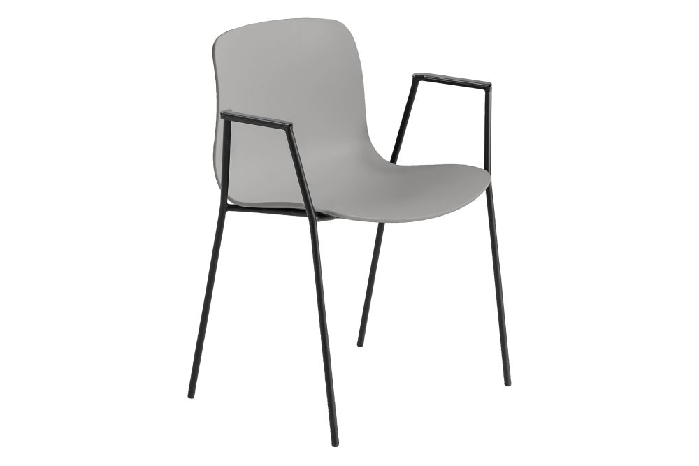 Metal White, Plastic Black,Hay,Dining Chairs,chair,furniture,line