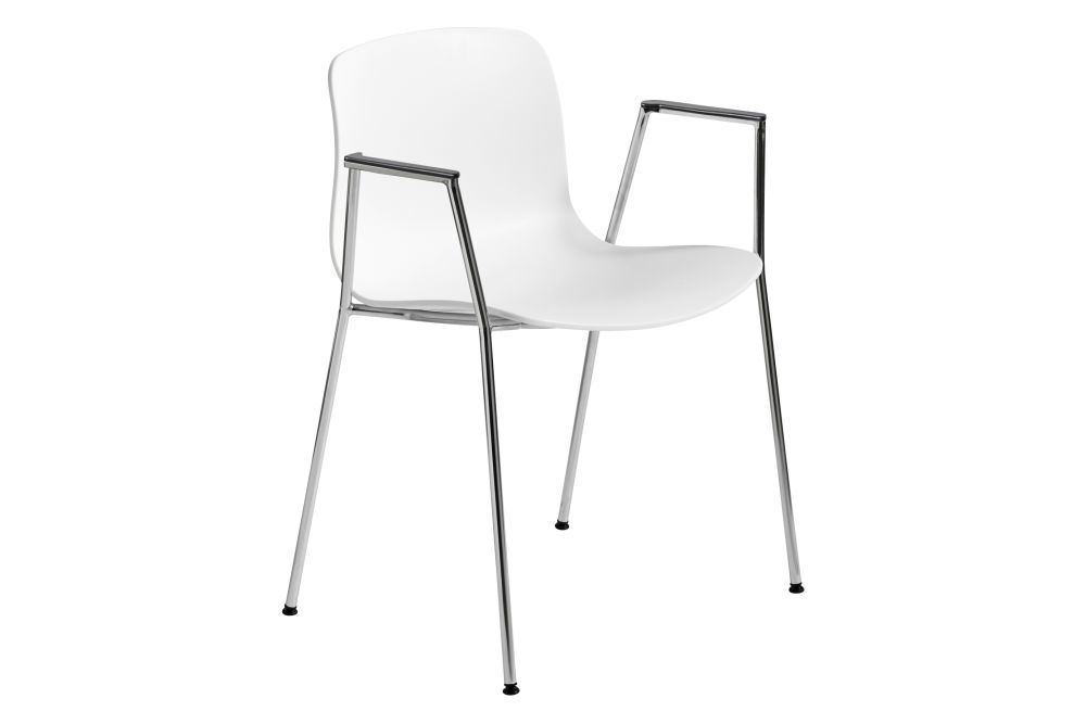 Metal White, Plastic Black,Hay,Dining Chairs,chair,furniture,line,white