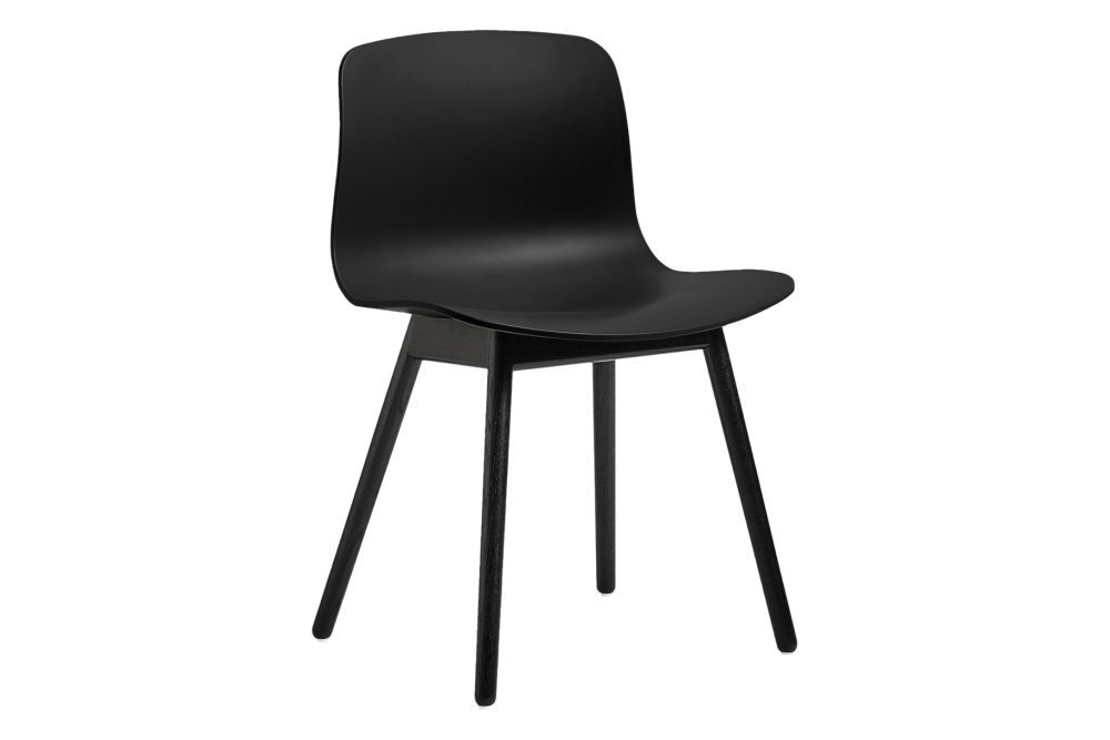 Wood Black Oak, Plastic Black,Hay,Dining Chairs,chair,furniture,material property