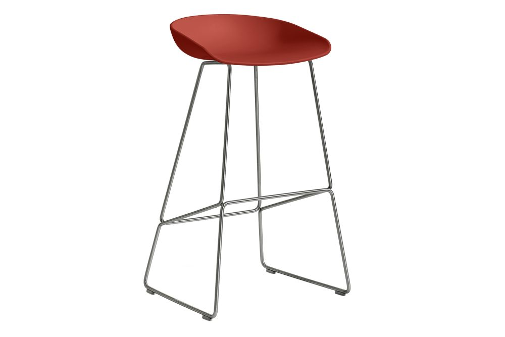 Metal Black, Plastic Warm Red,Hay,Stools,bar stool,furniture,stool,table