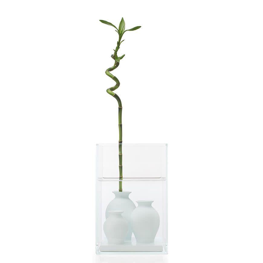 Polish White Enamelled Ceramic,Cappellini,Vases,flowerpot,green