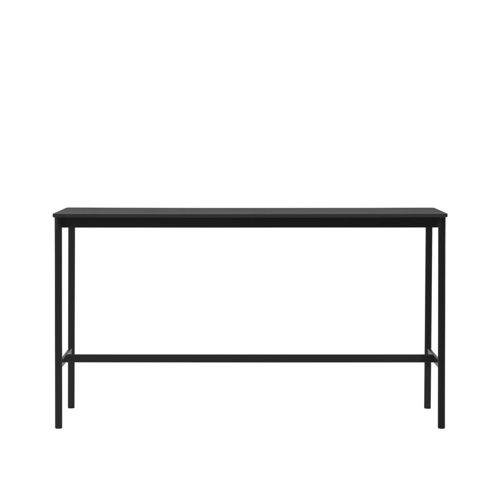 Black Laminate Top, Black ABS Edge, Black Base, 105,190 x 85,Muuto,High Tables,coffee table,furniture,line,outdoor table,rectangle,sofa tables,table