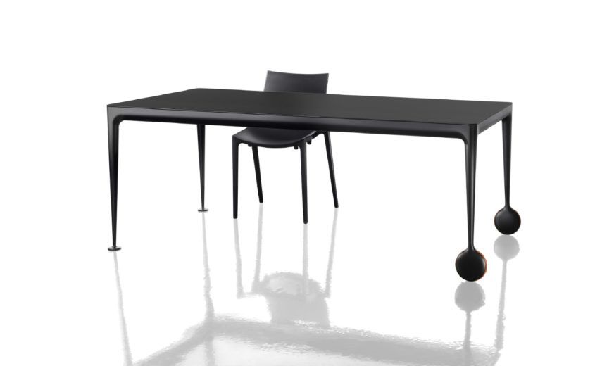 Black Frame, Walnut Top, 210 cm,Magis Design,Tables & Desks,end table,furniture,rectangle,table