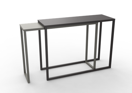 White - 01 RAL 9016,Matière Grise,Console Tables,end table,furniture,outdoor table,rectangle,sofa tables,table