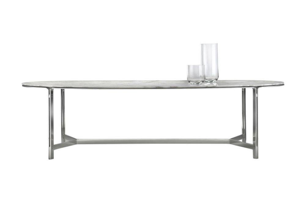 Black Chrome, Marble Carrara, 200,Flexform,Dining Tables,coffee table,desk,furniture,rectangle,sofa tables,table