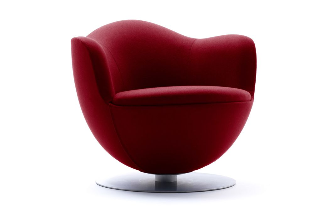 Pelle Extra Leather Extra 983, With Spring Return,Cappellini,Armchairs,chair,furniture,red