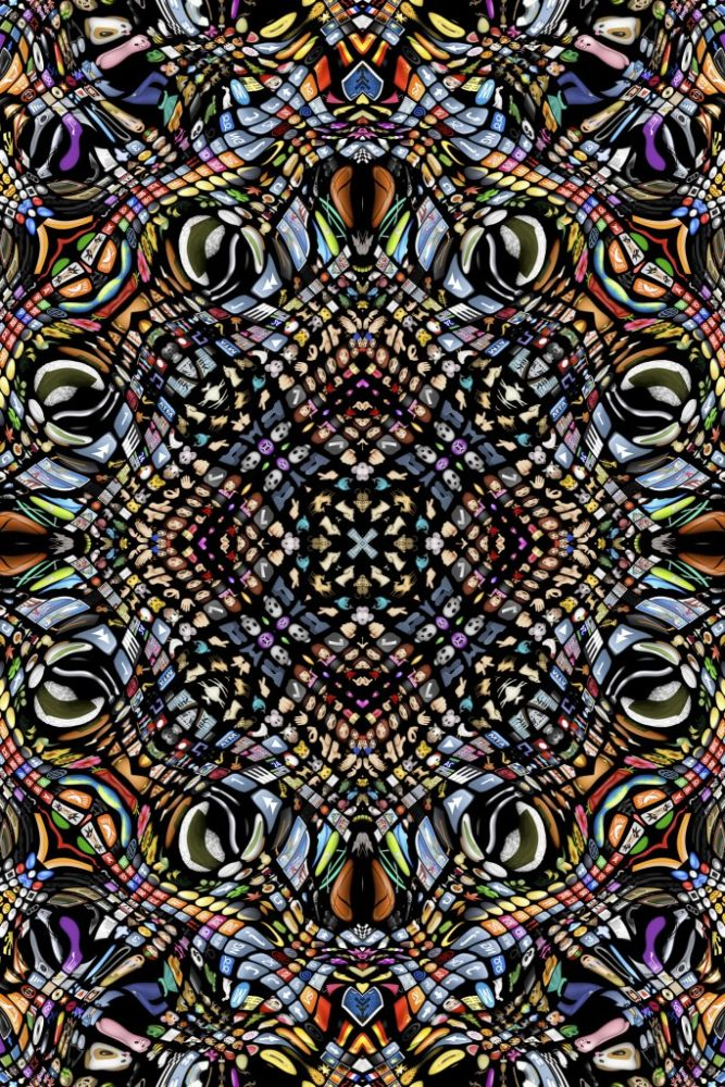 Polyamide,Moooi Carpets,Rugs,design,pattern,psychedelic art,symmetry