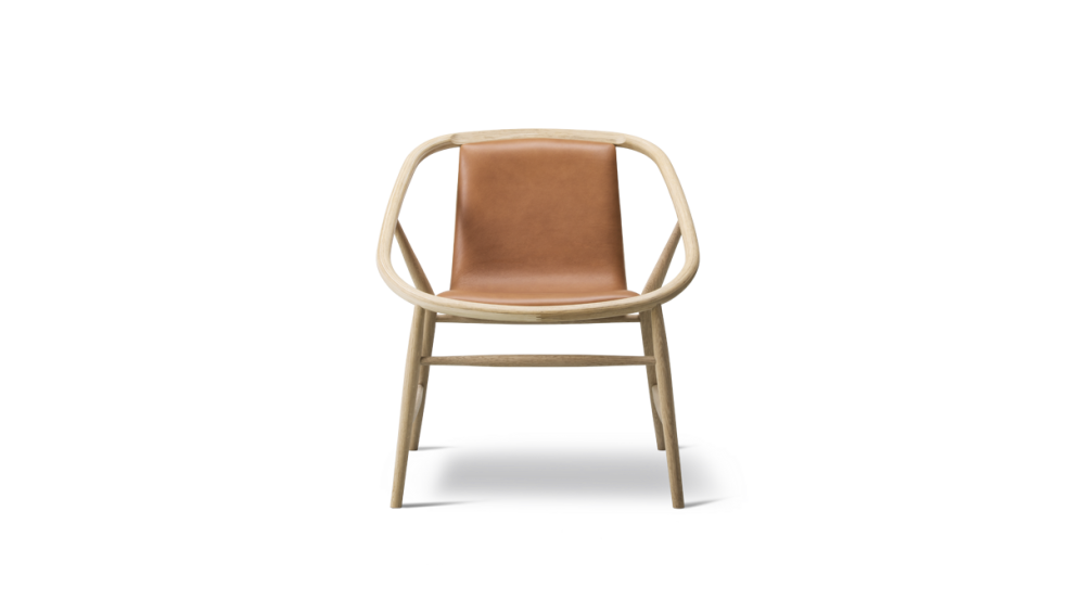 Oak standard lacquer, Leather 31 Shell,Fredericia,Lounge Chairs,beige,chair,furniture