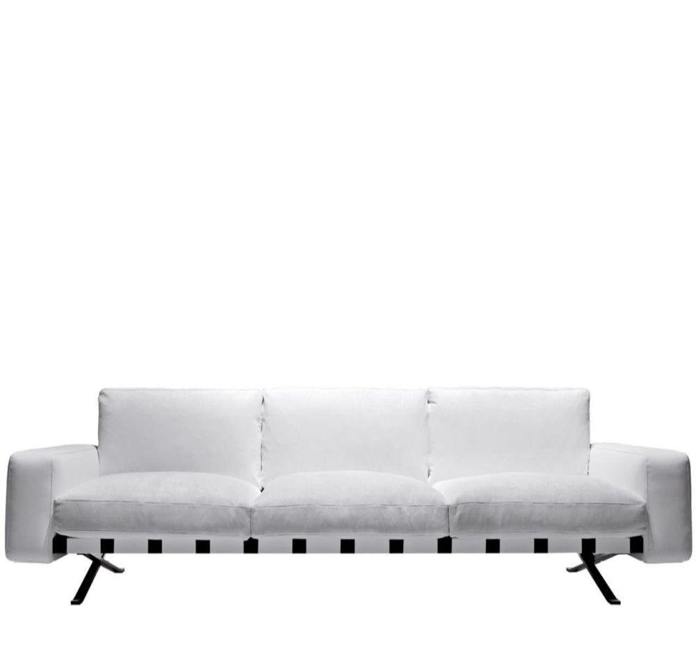 Colorado - Arancio 307, Cairo - Bianco 01,Driade,Seating,couch,furniture,futon,sofa bed,studio couch