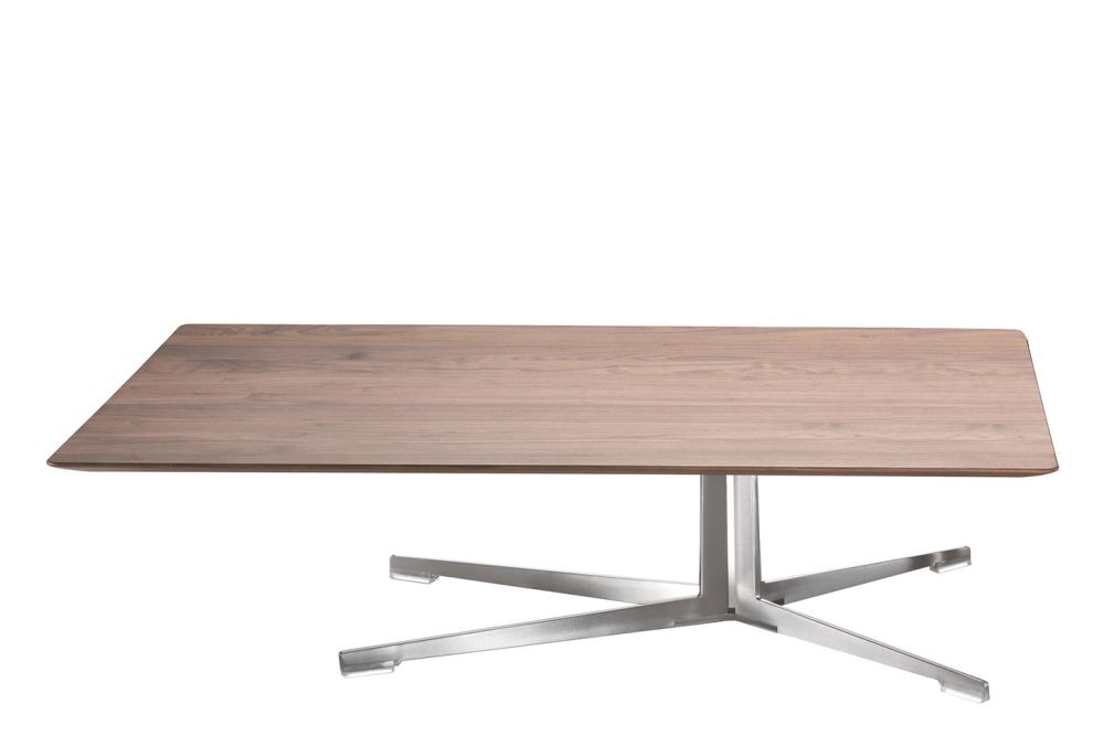 Wood Finishes Ashwood Stained Coffee, Black Chrome, 80,Flexform,Coffee & Side Tables,coffee table,desk,furniture,plywood,rectangle,table,wood