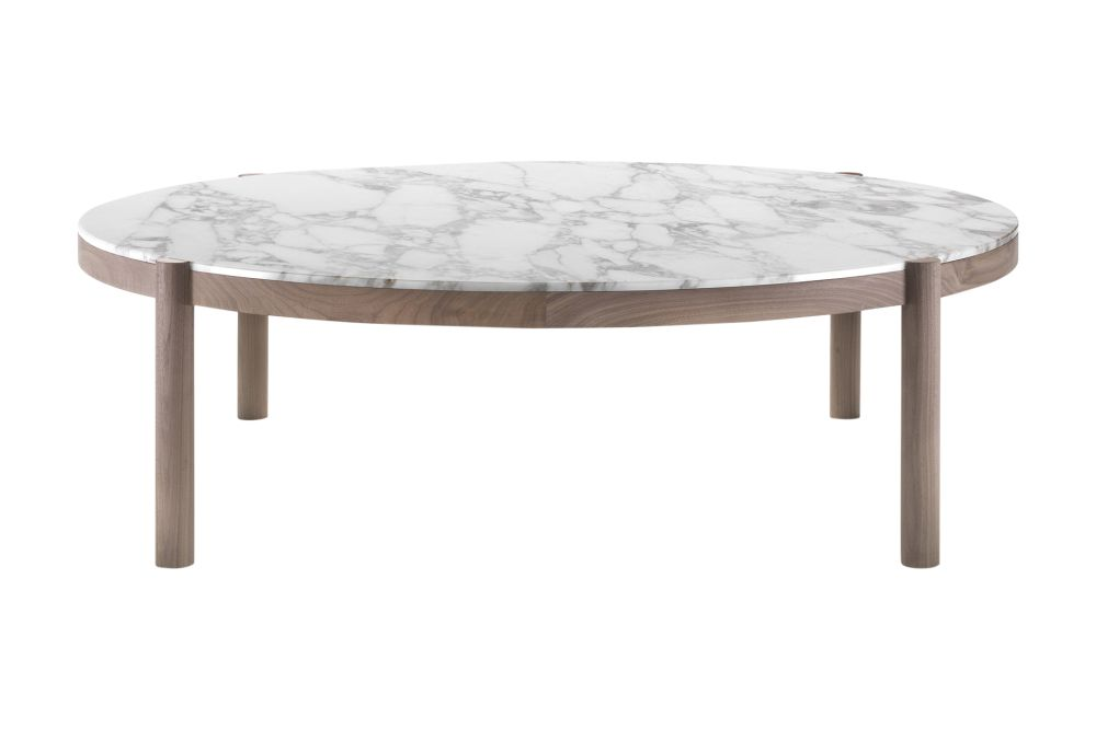 Marble Calacatta Oro Matt, Wood Finishes Noce Canaletto, 125,Flexform,Coffee & Side Tables,coffee table,end table,furniture,outdoor table,table