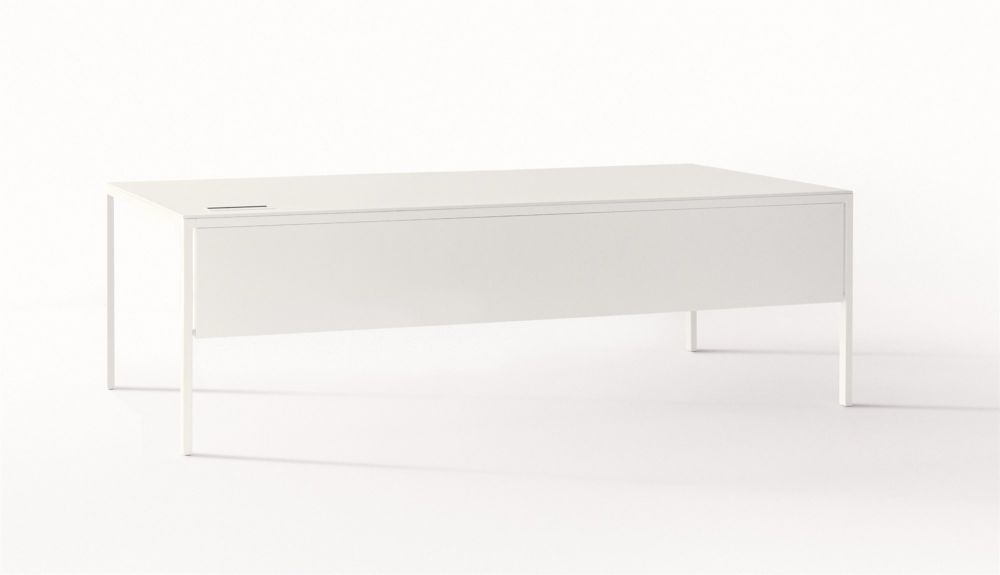 B62 Matt White, D84 White Calce, 90 x 299,Desalto,Office Tables & Desks,chest of drawers,coffee table,desk,drawer,furniture,material property,nightstand,rectangle,table,white