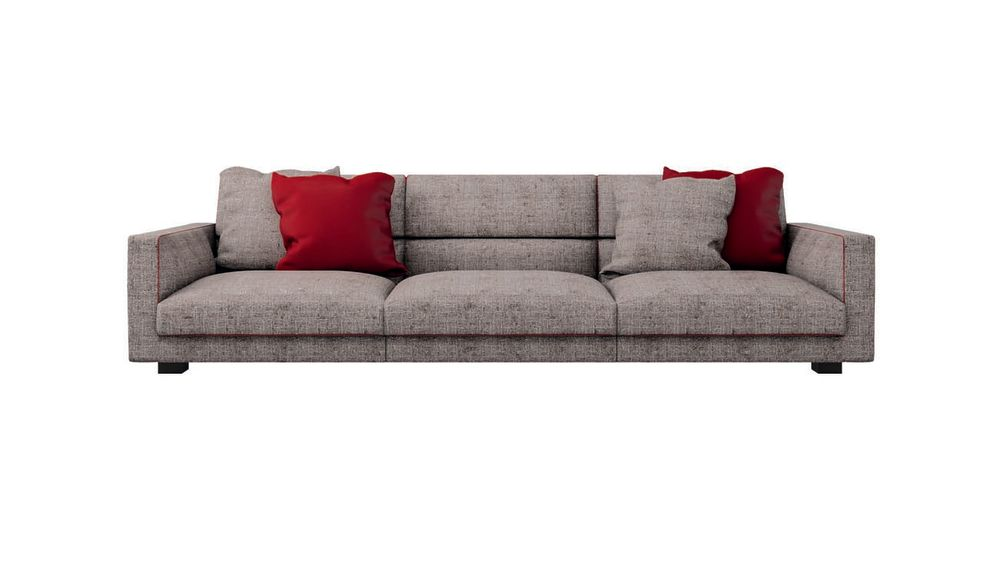 Phill 600, Fabric, 217cm,Cappellini,Sofas,comfort,couch,furniture,red,room,sofa bed,studio couch