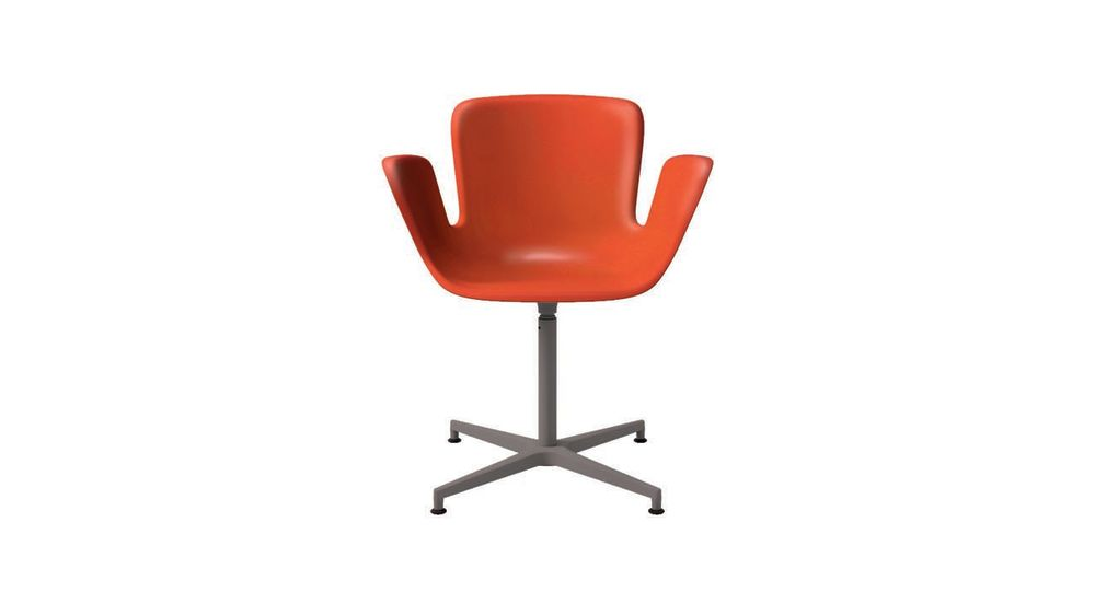 JBI RAL Pure white 9010, 412 Polished Aluminium, Swivelling, 412 Polished Aluminium,Cappellini,Armchairs,chair,furniture,line,office chair,orange,plastic