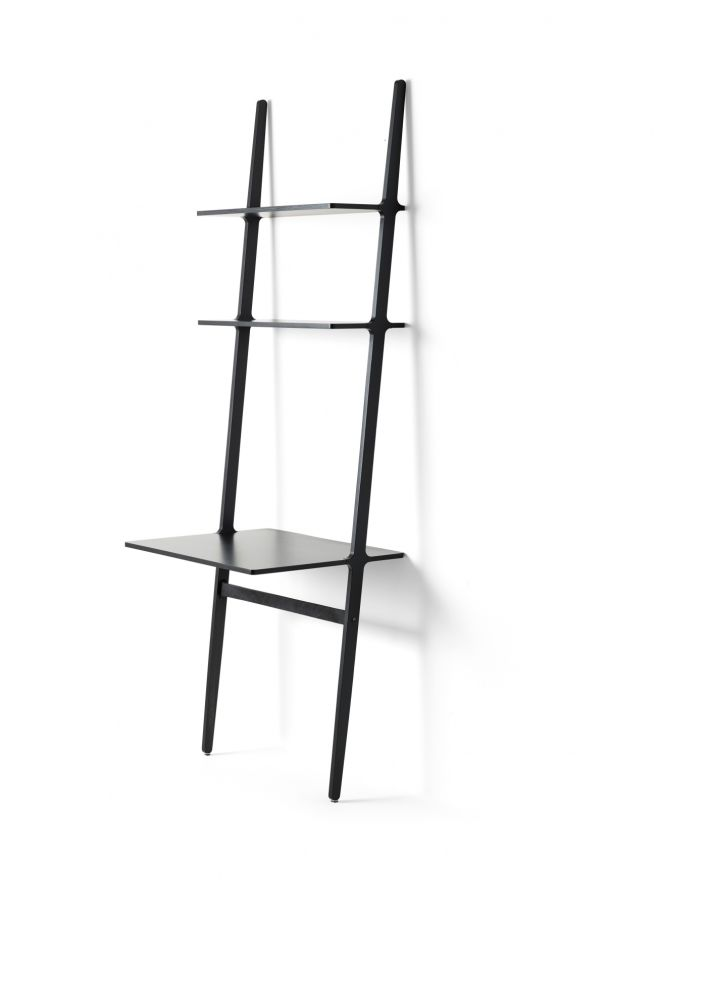 Ash Wood Black Lazur,Swedese,Office Tables & Desks,furniture,ladder,shelf,shelving
