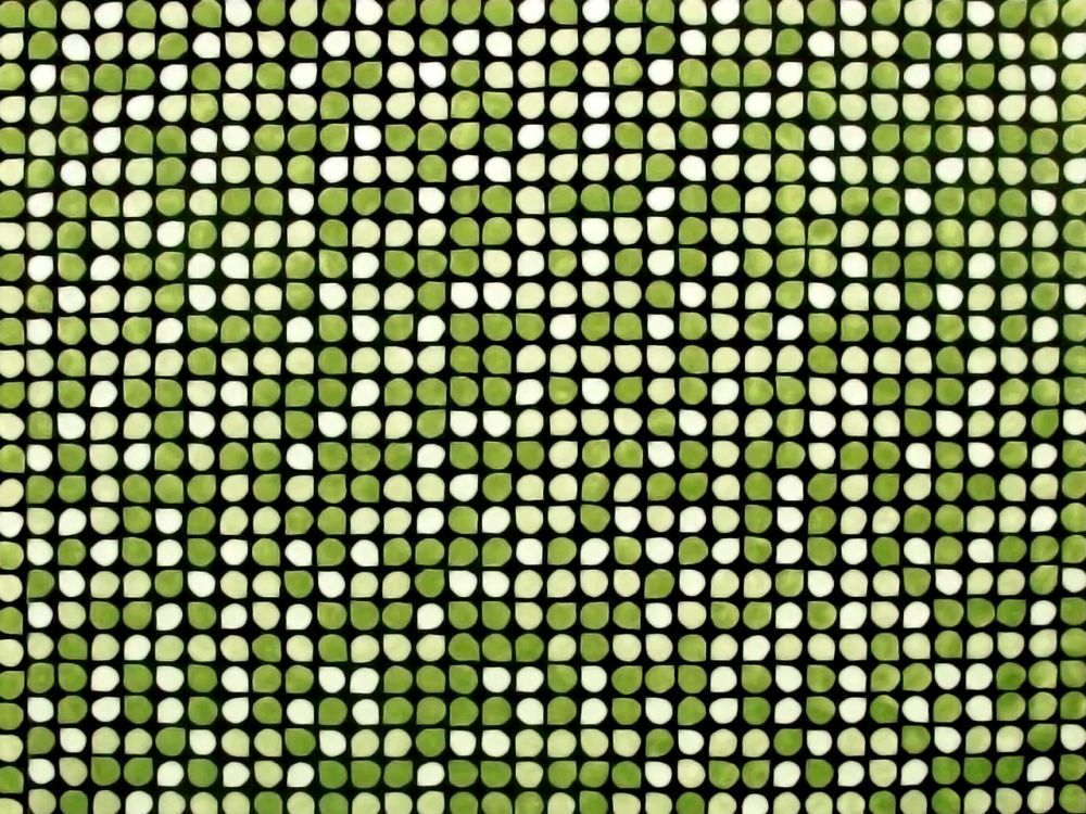 One-colour carpet with fixed matching dark greed background and leaves in 3 light-green gradations,Cappellini,Textiles,green,line,mesh,pattern