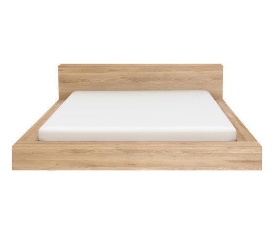 Oak, 198 x 243 x 71 cm - EU Queen size - mattress size 160 x 200cm, without slats,Ethnicraft,Beds,bed frame,furniture,rectangle,wood
