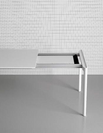 139-176-214 x 90, White, Zenith White, White, White,Kristalia,Tables & Desks,desk,furniture,shelf,table