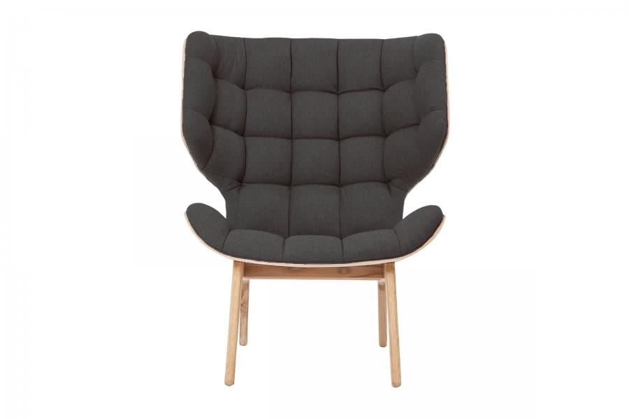 Oak Natural, Wool Coal Grey,NORR11,Lounge Chairs,chair,furniture