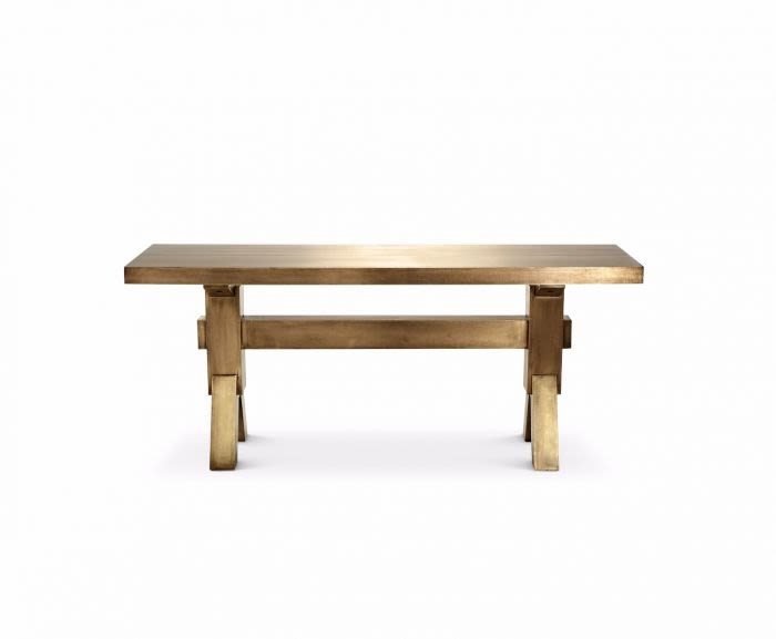 Brass,Tom Dixon,Tables & Desks,coffee table,furniture,outdoor table,plywood,rectangle,table,wood