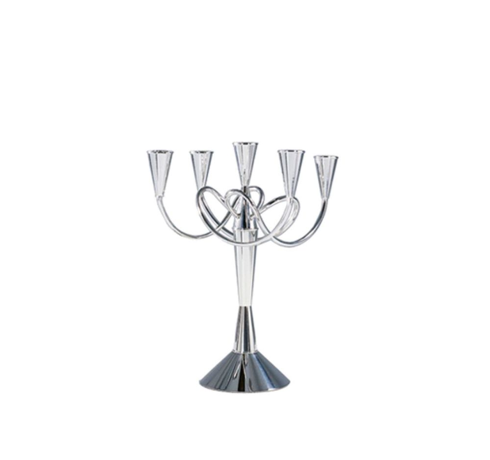 Polished Nickel Brass,Driade,Candles & Lanterns,candle holder,glass,menorah