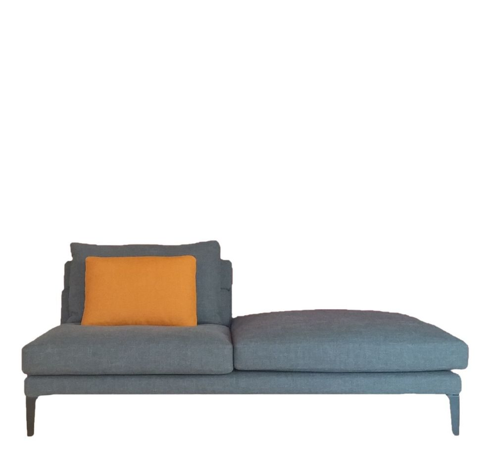 Right, Cairo - Bianco 01,Driade,Sofas,bed,chaise longue,couch,furniture,futon,orange,room,sofa bed,studio couch
