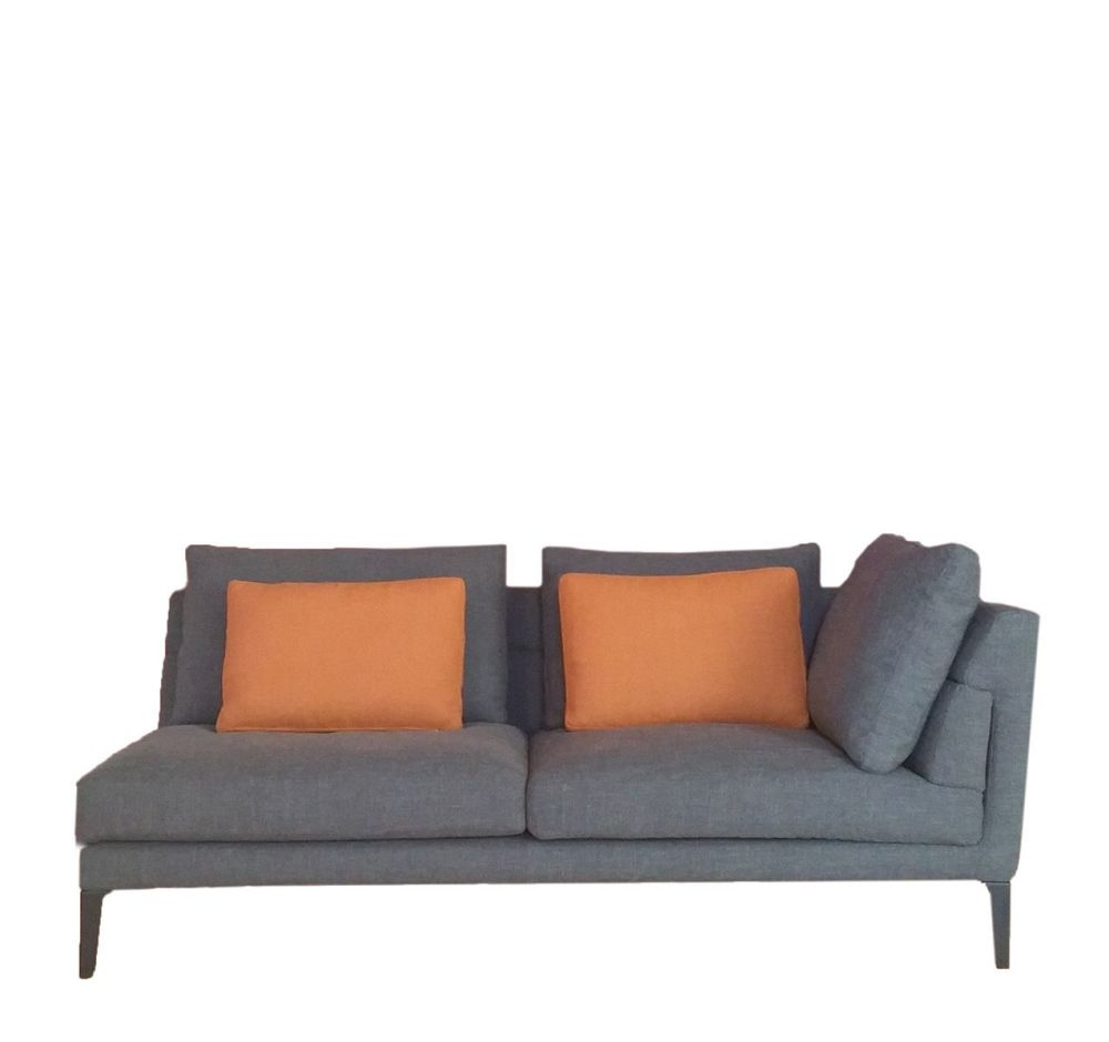 Right, Cairo - Bianco 01,Driade,Sofas,brown,couch,furniture,loveseat,orange,room,sofa bed,studio couch
