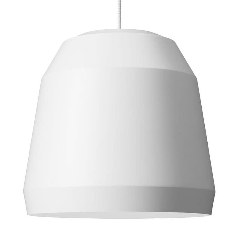 P1 Small, Dusty Limestone, 3 m cord,Fritz Hansen,Pendant Lights,ceiling,ceiling fixture,lamp,lampshade,light fixture,lighting,lighting accessory,white