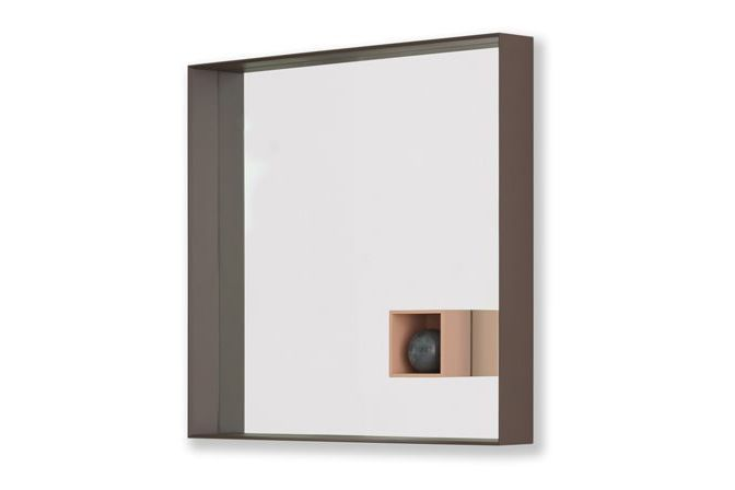 B22 Bungee Brown, B73 Quarzo Pink, Without LED,Desalto,Mirrors,beige,wall,wood