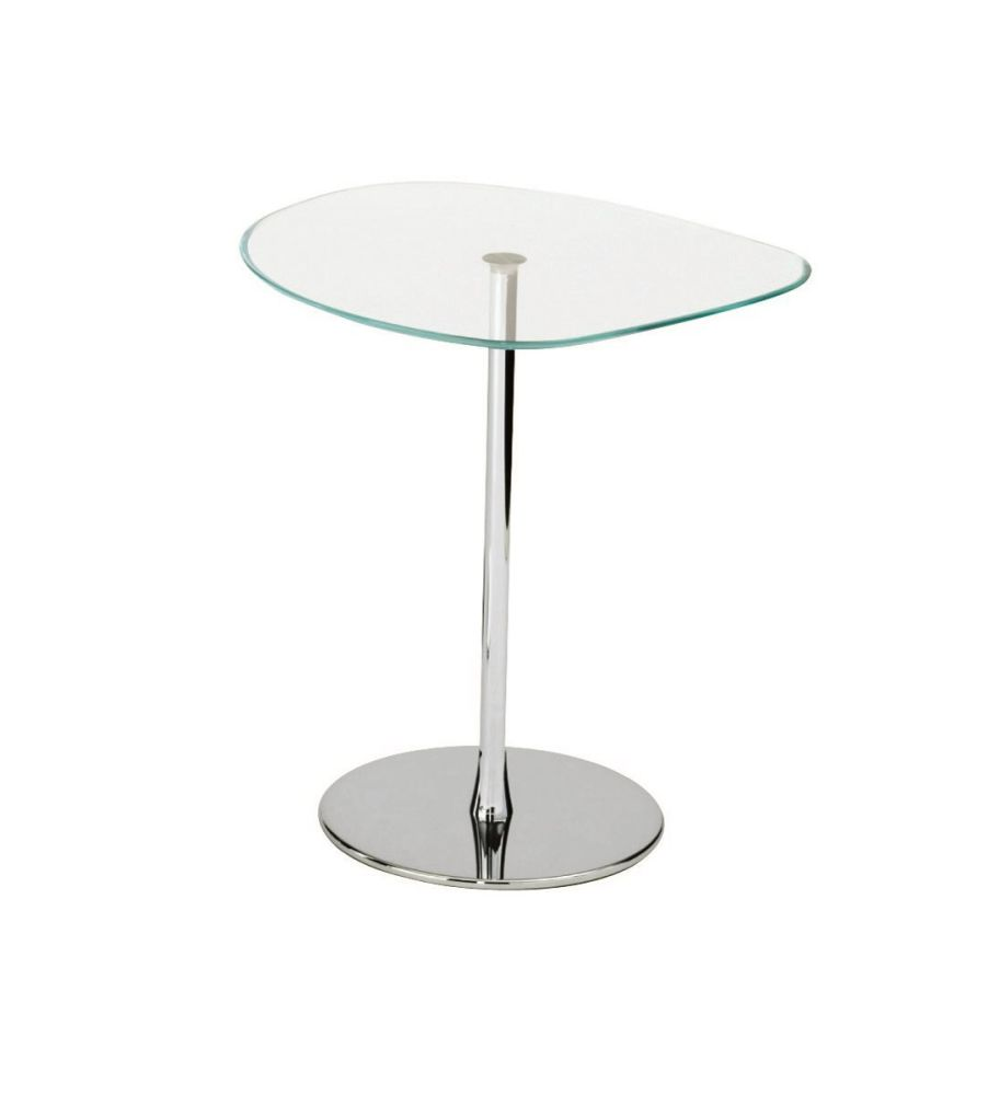 A03 Chrome, Desalto Glass E71 Extra Clear, 54cm,Desalto,Coffee & Side Tables,cake stand,coffee table,end table,furniture,outdoor table,table