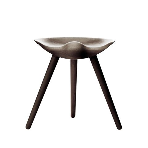 Black Stained Beech,by Lassen,Stools,chair,furniture,stool,table