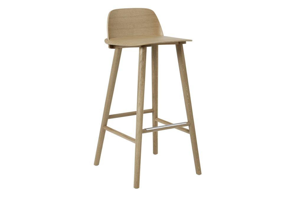 Terrific Nerd Barstool With Steel Foot Rest Oak 75 Cm Machost Co Dining Chair Design Ideas Machostcouk