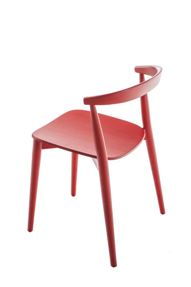 Frassino Ash Wood 112,Cappellini,Dining Chairs,chair,design,furniture,red,table