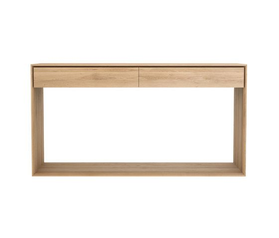 Oak, 160 x 40 x 85 cm,Ethnicraft,Console Tables,drawer,furniture,rectangle,shelf,sofa tables,table,wood