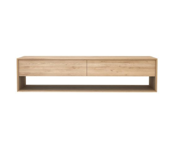 Oak, 180 x 46 x 45 cm,Ethnicraft,Cabinets & Sideboards,furniture,rectangle,shelf,sofa tables,table,wood