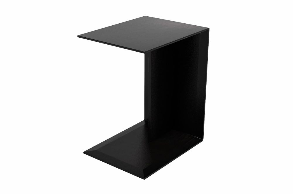 Hide Leather - Suede Black 5005,Flexform,Coffee & Side Tables,end table,furniture,table
