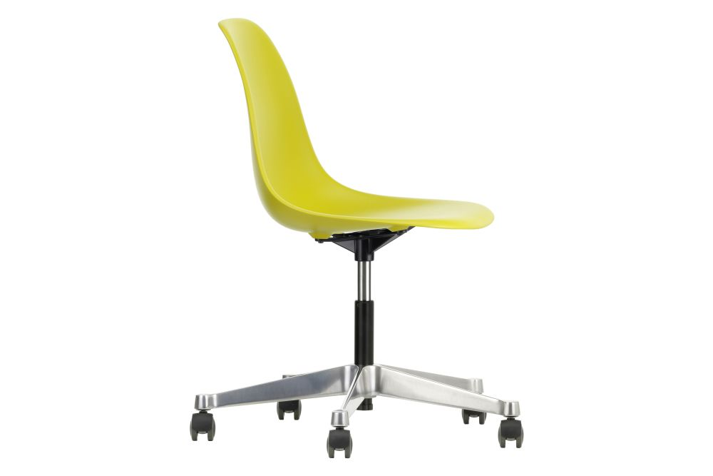 02 castors hard - braked for carpet, 01 basic dark,Vitra,Conference Chairs,chair,furniture,line,office chair,plastic,product,yellow