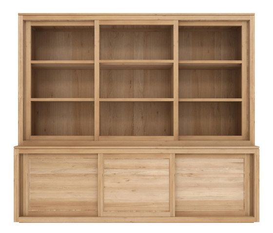 200 x 38 x 220 cm,Ethnicraft,Cabinets & Sideboards,bookcase,china cabinet,cupboard,display case,furniture,hardwood,hutch,shelf,shelving,wood,wood stain