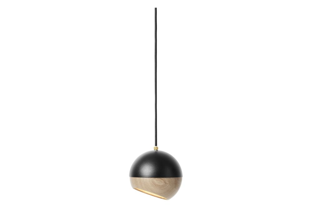 White Painted Steel & Natural Oak Shade, 11.9cm,Mater,Pendant Lights,pendulum