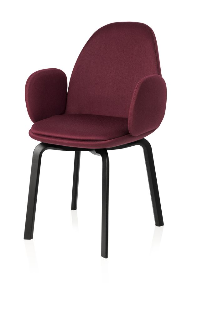 Natural Oak, Hallingdal 65 407,Fritz Hansen,Armchairs,chair,furniture,line,red