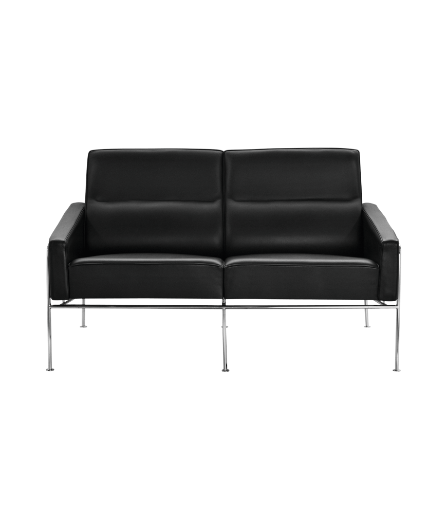 Elegance Leather Black,Fritz Hansen,Sofas,black,chair,couch,furniture,leather,sofa bed,studio couch