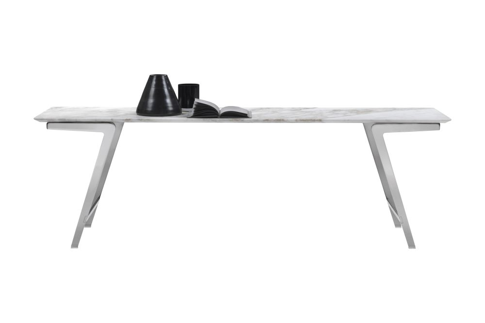 Marble Calacatta Oro Matt, Black Chrome, 72,Flexform,Console Tables,desk,furniture,table