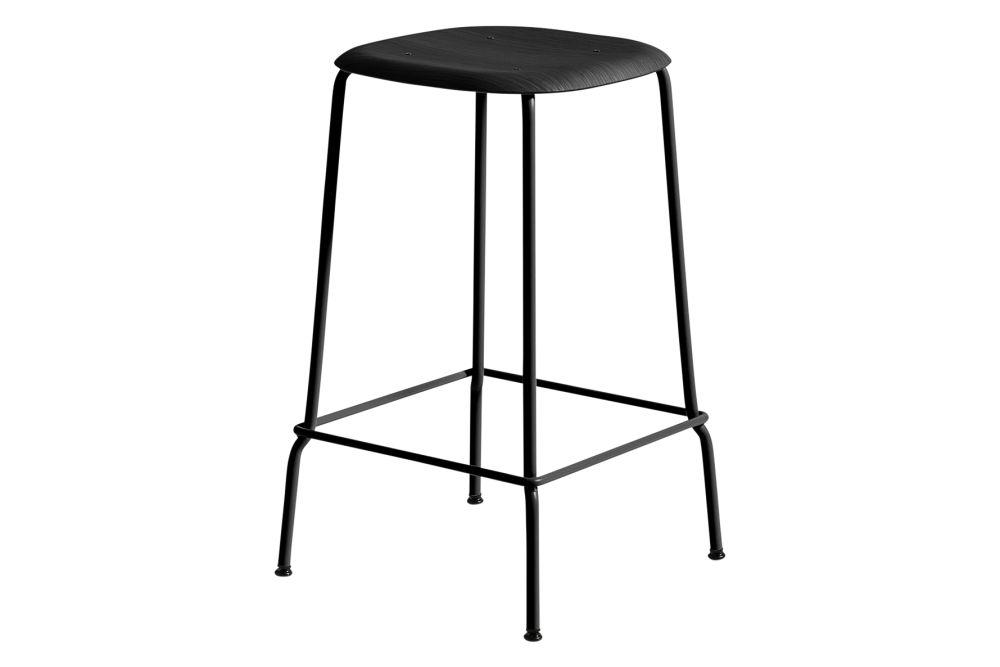 Wood Black Oak / Metal Black,Hay,Stools,bar stool,furniture,stool,table