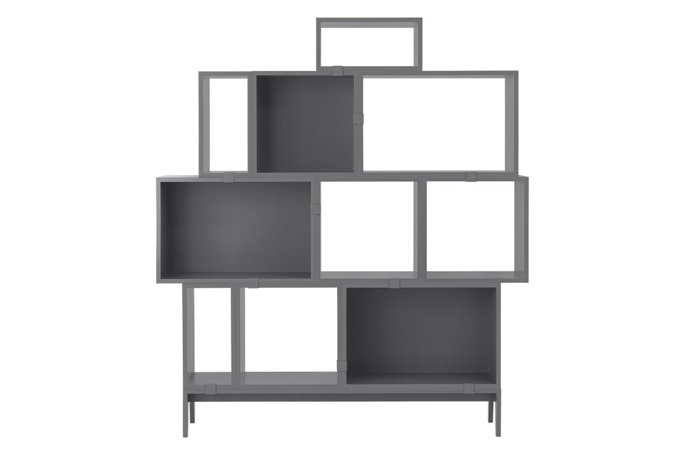Oak,Muuto,Bookcases & Shelves,bookcase,furniture,shelf,shelving