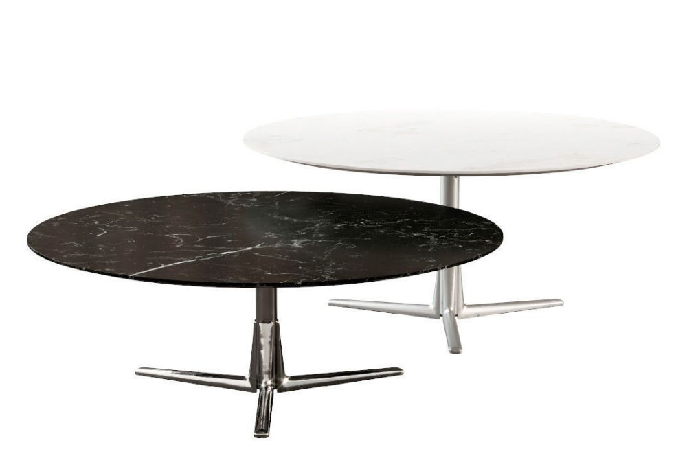 45, Marble Calacatta Oro Matt, Black Chrome,Flexform,Coffee & Side Tables,coffee table,furniture,outdoor table,table
