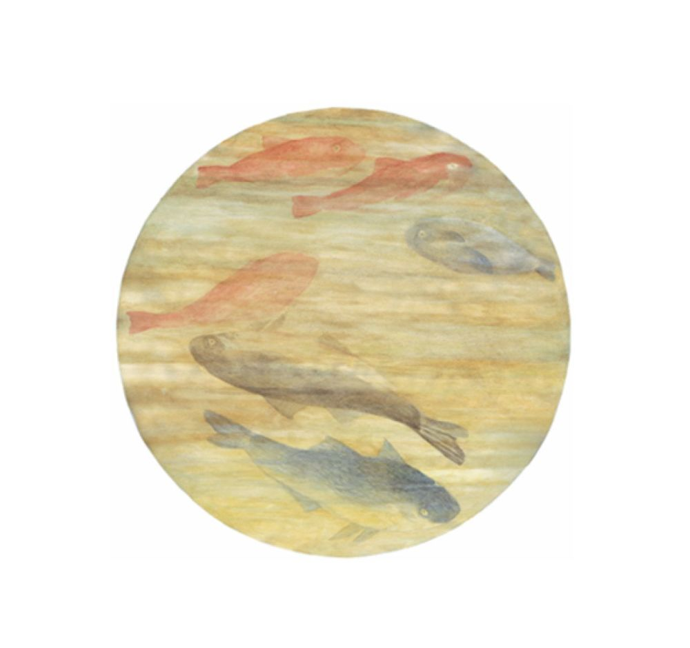 Porcelain,Driade,Bowls & Plates,fish,pink,yellow