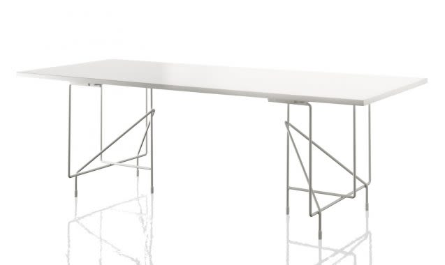 White,Magis Design,Dining Tables,desk,furniture,outdoor table,rectangle,table